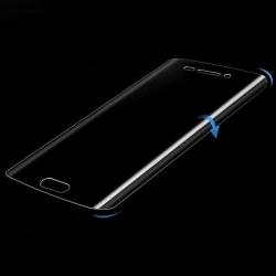 Gebogen screenprotector met ronde zijkanten tegen krasjes op het scherm van de Samsung Galaxy S7 Edge