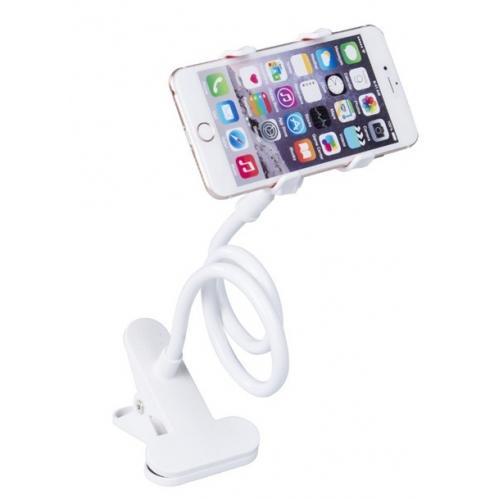 Houder voor de telefoon voor aan het bed, bureau, nachtkastje, tafel of auto in de kleur wit