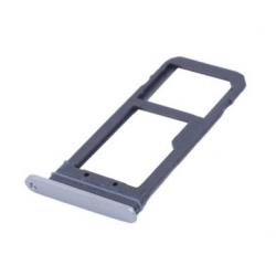 Zilverkleurige vervangende SD SIM tray houder voor de Samsung Galaxy S7