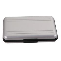 Aluminium doosje om SD SDHC geheugen kaartjes in te bewaren