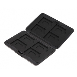 Berg uw Micro SD, SD, SDXC en SDHC kaartjes veilig op in dit aluminium hoesje