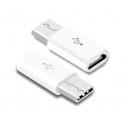 Witte Micro USB naar USB C verloopje