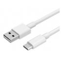 USB C kabel van een meter in het wit voor de smartphone of tablet
