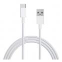 Witte USB C kabel om de smartphone of tablet aan te sluiten