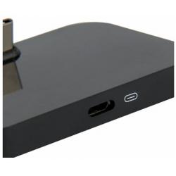Dockingstation met USB Type C aansluiting in de kleur zwart