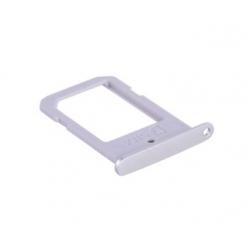 Zilver Pearl SIM kaart houder voor de Samsung Galaxy S6 Edge