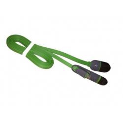 Groene twee in een oplaad kabel met lightning aansluiting en Micro USB aansluiting