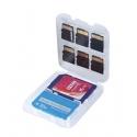 Beschermdoosje om SD, MS en Micro SD kaartjes in te bewaren