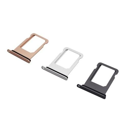 Vervangende SIMkaart houder voor de iPhone 8 in het zwart, zilver en goud