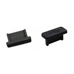 Zwart stofkapje dat voorkomt dat er vuil in de USB-C poort komt