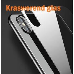 Glazen achterkant bescherming voor de iPhone X tegen krassen