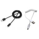 Uitrekbare Micro USB kabel voor het aansluiten van de smartphone