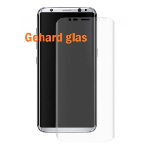 Kraswerende screenprotector van glas voor de Samsung Galaxy S8 met ronde zijkanten