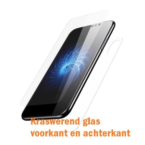 Harde kraswerende voorkant EN achterkant bescherming voor de iPhone X