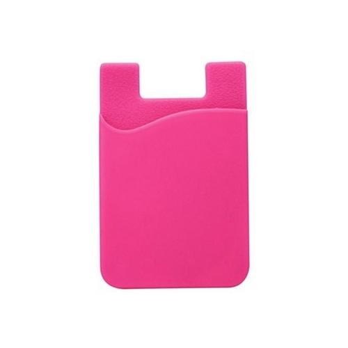 Fel roze pinpas houder voor op de achterkant van de smartphone voor pasje