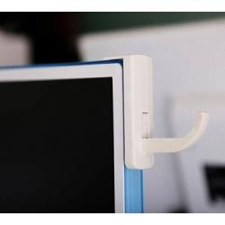 Haakje om de koptelefoon aan de monitor of TV te bevestigen