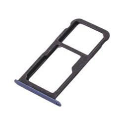 Blauwe vervangende houder voor de SIM kaart voor de Huawei P10 Lite