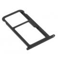 Zwarte vervangende SIM kaart houder voor de Huawei P10 Lite